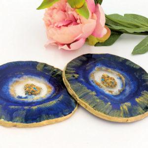 Blue Amethyst Coasters